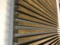 Декоративная интерьерная рейка 40х100, Дуб, цена за 1 м. п.