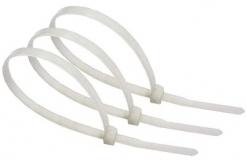Нейлоновые кабельные стяжки белые хомуты 4х300мм (100 штук)